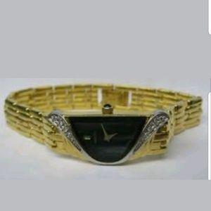 Vintage Lassale by Seiko Gold Tone/Diamonds Watch